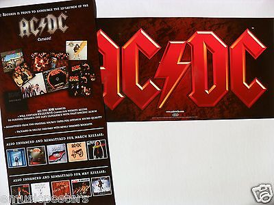 "AC/DC ""CATALOG!"" 2-SIDED U.S. PROMO POSTER /BANNER -Australian Heavy Metal Music"