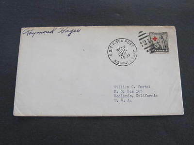 SS President Taft 1931 Ship Shipping Line Cover Postmarked