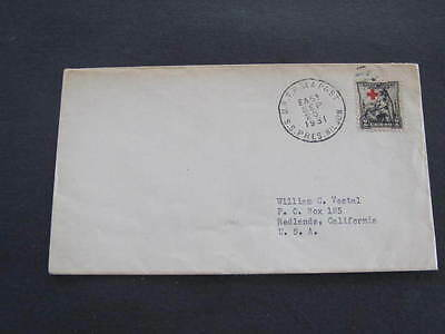 SS President Wilson 1931 Ship Shipping Line Cover Postmarked