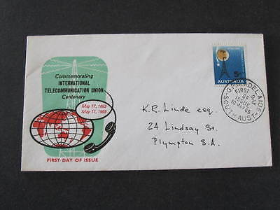 Telecommunication Union Australia FDC FDI First Day of Issue Stamp Cover