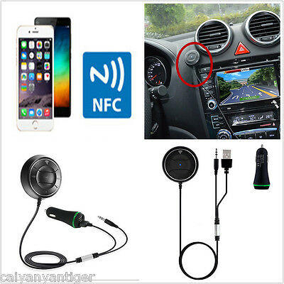 Car 3.5mm Stereo Bluetooth Receiver Handsfree MP3 Player NFC AUX FM Transmitters