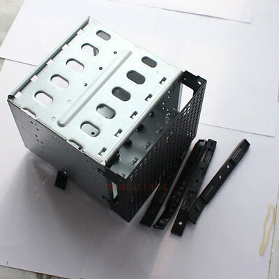 """5-layer PC Cage Tray Caddy Rack for 5 3.5"""" SATA SAS HDD Hard Drive 3x 5.25"""" size"""
