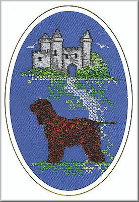 Irish Water Spaniel Birthday Card or Notecard Embroidered by Dogmania