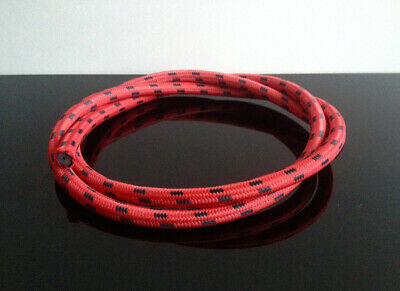 Retro ZÜNDKABEL/ignition cable/câble d'allumage ROT/red, Stoffummantelt, ca. 1m