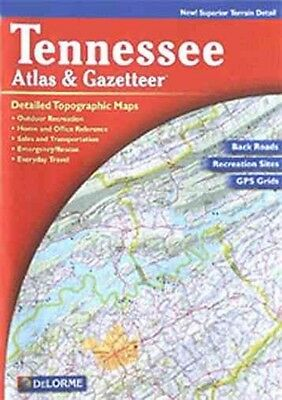 Tennessee Atlas & Gazetteer by Delorme Paperback Book (English)