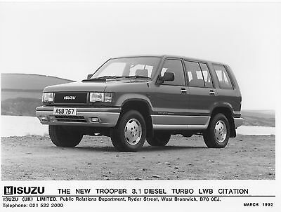 Isuzu Trooper 3.1 Diesel Turbo LWB Citation Press Photographs x 3 - 1992