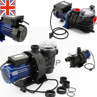 Swimming Pool Pump Electric Strainer Filter Pump for Ground Pool Water Spa UK
