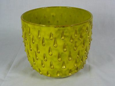 Vtg Mid Century Yellow StrawberryPottery Italy **Hairline Crack** Fanciullacci ?