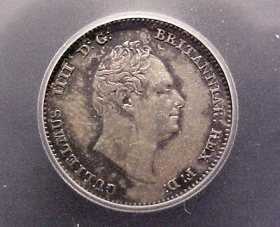 1836 Great Britain 4 Pence - .925 Silver, ICG AU55