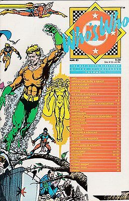 Who's Who: The Definitive Directory Of The Dc Universe Vol I March 1985 Nm Cond
