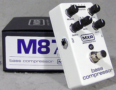 M87 Mxr Bass Compressor Effect Pedal *** Free Cable!!!!!!!