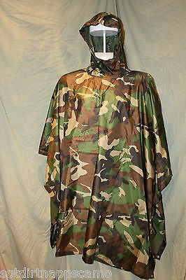 US Woodland  Ripstop Rain Poncho/ Wet Weather/ Ripstop Material