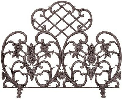 UniFlame Single Panel Bronze Finish Cast Aluminum Screen S-5812 Fireplace Screen