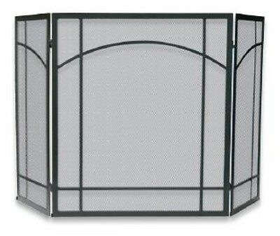 Uniflame 3 FOLD BLACK WROUGHT IRON MISSION SCREEN S-1023 Fireplace Screen NEW