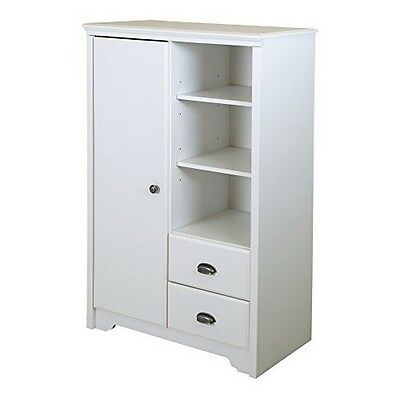 South Shore Fundy Tide Armoire With Drawers Pure White -