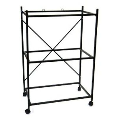 "YML 3 Shelf Stand for 2464 & 2474, Black 4164BLK Cage 32"" x 18"" x 47.5"" NEW"