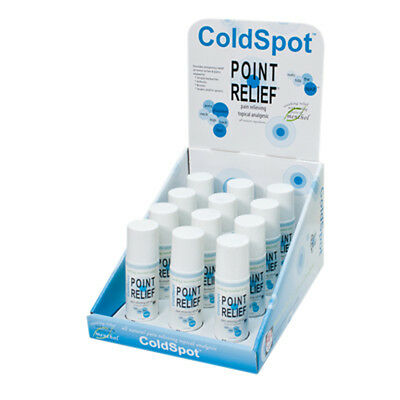 Point Relief ColdSpot Lotion-Retail Display w/12 x 3 oz Roll-on Applicator- NEW