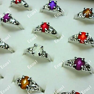 20pcs Acrylic silver plated rings wholesale jewelry lots new free shipping