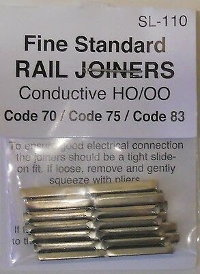 Peco 00 SL-110 Rail Joiners Metal Conductive Finescale Code 75.OO Model Railways