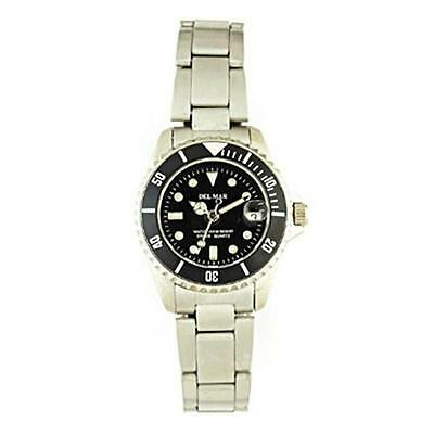 Del Mar 50116 Womens Classic Dive Watch Stainless Steel