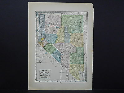 United States, Old Map, Double Sided M6#31 Nevada and Nebraska