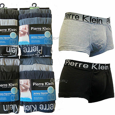 6 or 12 Pack Mens Pierre Klein Cotton Hipster Boxer Shorts Size S M L XL Trunks
