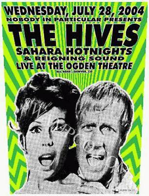 The Hives Denver 2004 Concert Poster Kuhn Original Silkscreen