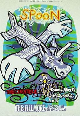 Spoon Original Fillmore Concert Poster F698 Mint