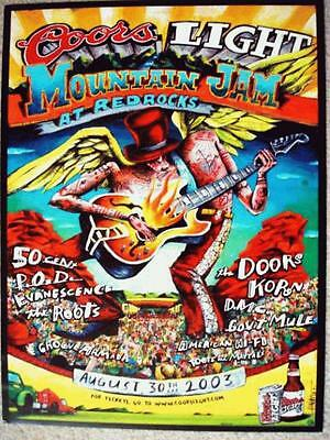 Gov't Mule 50 Cent Doors Korn Roots Red Rocks 2003 Concert Poster Mtn Jam Orig