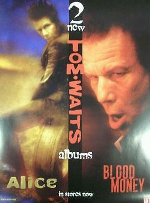 Tom Waits Alice  Blood Money Promo Poster 2002 Original