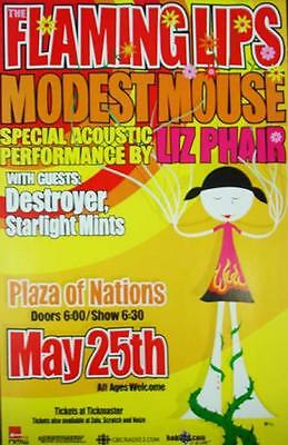 Flaming Lips Modest Mouse Liz Phair Concert Poster