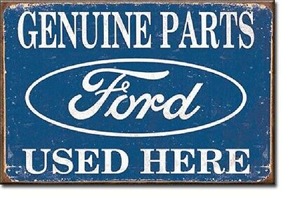 """New Ford Genuine Parts Used Here Miniature Sign Magnet 2"""" X 3"""""""