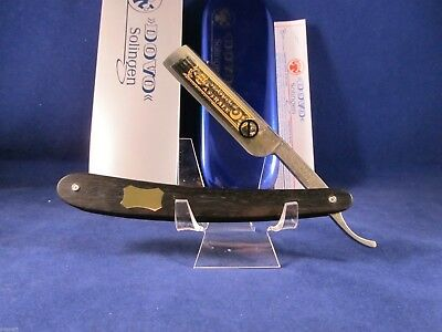 Dovo 5/8 Ebony Solingen Germany Straight Razor With 24kt.Gold Etch Mint - 558130