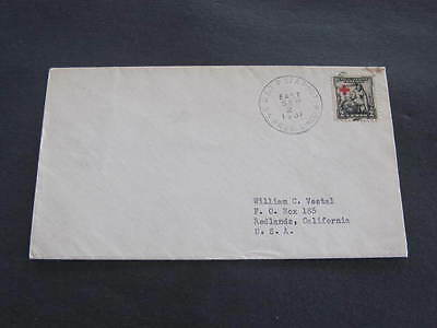 1931 USTP Sea Post SS President Lincoln Shipping Line Mail Cover