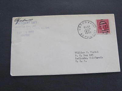 American Mail Line S.S. President Taft Ship Shipping Line Cover Postmarked 1932