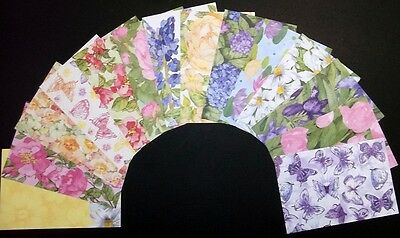 "WATER COLOUR FLORALS*  Beautiful Scrapbooking Papers x 14 - 15cm x10cm- (6""x 4"")"