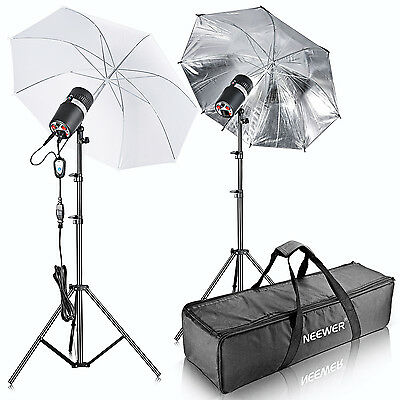 Neewer 400W(200W x 2) Strobe Flash Light Monolight Umbrella Lighting Kit(ST-200)