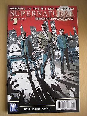 Supernatural : Beginning's End # 1.  Prequel To The Cult Hit Cw Tv Series. 2010