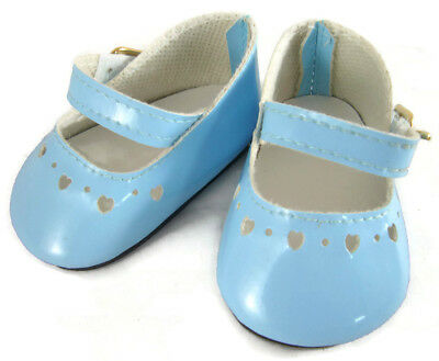 For American Girl BITTY BABY Doll Clothes Blue Patent Dress Shoes Accessories