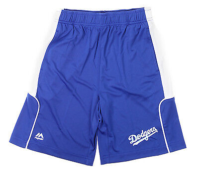 Majestic MLB Youth Los Angeles Dodgers Batters Choice Shorts, Navy