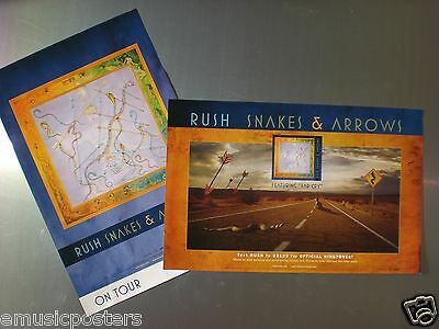 "Rush ""snakes & Arrows"" Small, 2-Sided U.s. Promo Poster - Canadian Metal Music!"