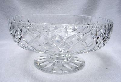 vintage Footed Webb Corbett Crystal Salad fruit dessert bowl  English England