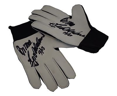 Bruce Grobbelaar SIGNED autograph Pair of Goalkeeper Gloves Liverpool PROOF COA