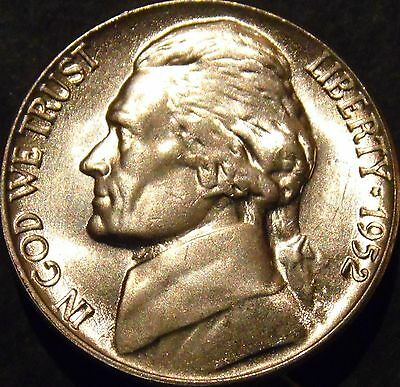 1952-P Jefferson Nickel Choice/Gem BU Uncirculated