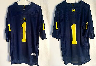 NCAA College Football Trikot Jersey University MICHIGAN WOLVERINES  1 navy