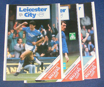 Leicester City Home Programmes 1988-1989