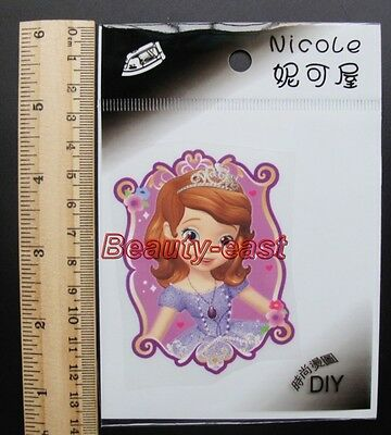 Lot Sophia pyrograph thermal transfer post DIY clothing decoration sticker
