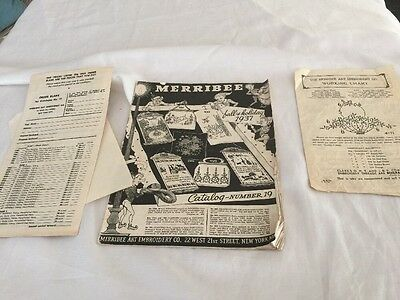 Vintage Merribee Fall & Holiday 1937 Art Embroidery Catalog Number 19