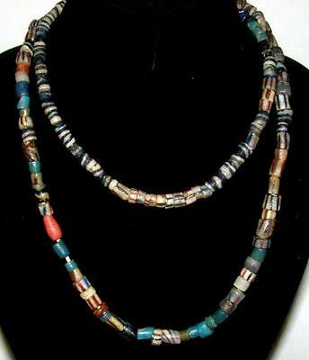 """Simply Fabulous!! Antique African Trade Bead 36"""" Necklace Strung on Cotton"""