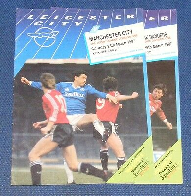 Leicester City Home Programmes 1986-1987